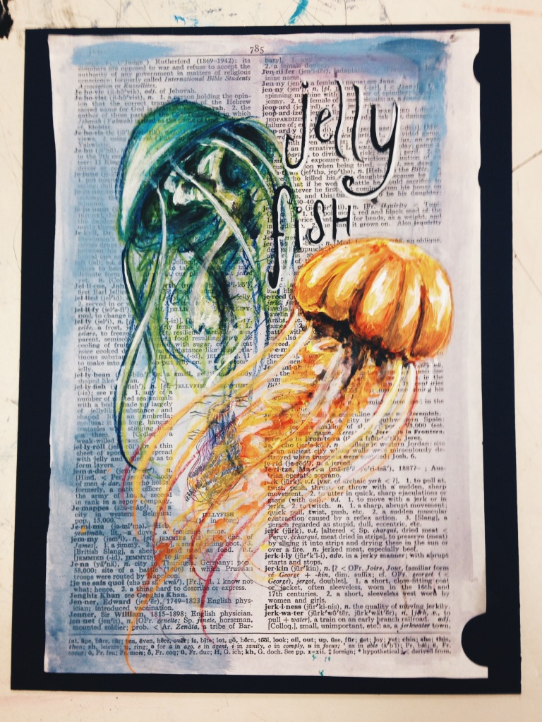 JELLYFISH //  colored pencil & acrylic
