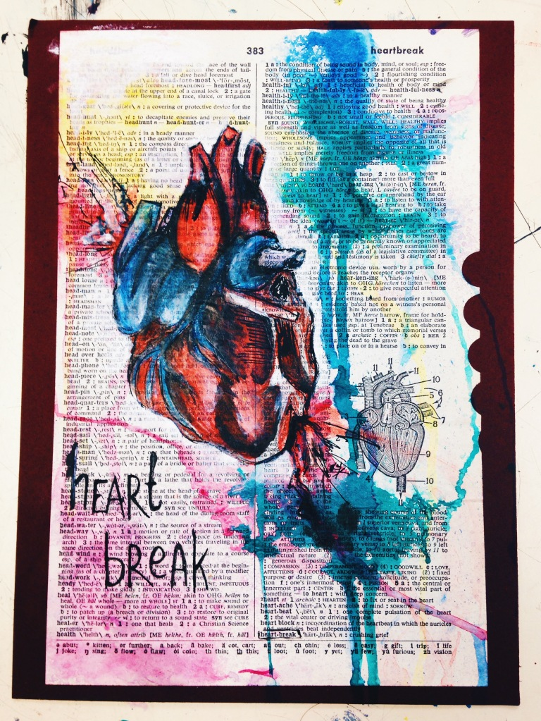 HEARTBREAK // colored pencil, ink, & acrylic